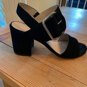 Stuart Weitzman Black City Sandals